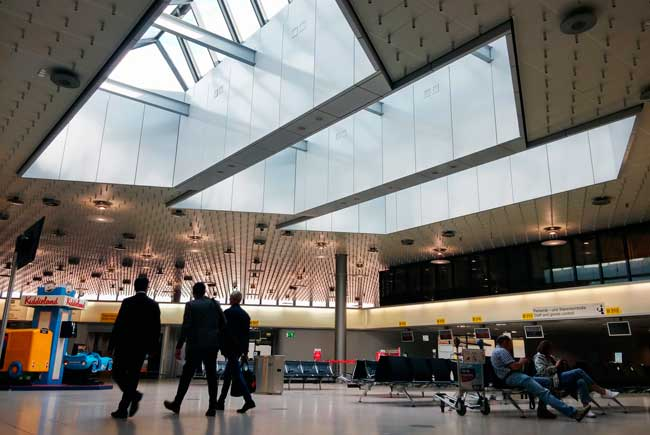 Hanover Airport has three concourses which are named Terminal A, Terminal B and Terminal C.